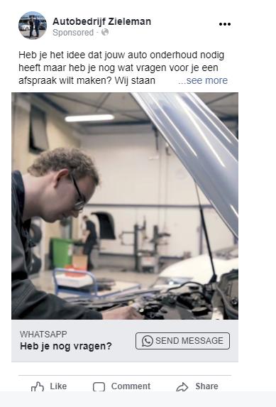 Whatsapp koppelen met Facebook ads 2